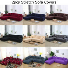2pcs 3-seater Sofa Covers Stretch Slipcover for L Type Separable Sectional Couch