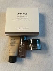 Innisfree Pore Care Trio Kit with Volcanic Clusters - New in Box
