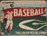 Topps Baseball Vintage Retro Tin Sign 13 x 16in
