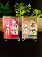 (2 CARD LOT) 2019-20 Chronicles ANTHONY DAVIS Essentials PINK + SILVER Lakers 🔥