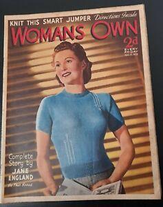 Vintage Woman`s Own magazine Aug 13th 1938 Ballet Yurek Shabelevsky Sono Osalo
