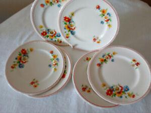 Six Vintage Swinnertons Staffordshire England Majestic Vellum Side Plates