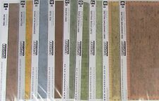 Superquick OO Gauge Building Paper. 6 x A4 Sheets Per Pack. 13 Variations