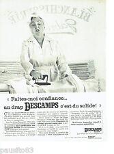 PUBLICITE ADVERTISING 046  1966  Descamps Lainé  draps