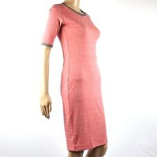 New LuLaRoe Julia XXS Heathered Vintage Red Gray Trim Short Sleeve Shirt Dress