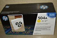^^ GENUINE HP LaserJet 504A Yellow Toner Print Cartridge CE252A - NEW  (#1557)
