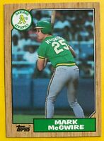 1987 MARK McGwire Rated ROOKIE topps CARD #366 Vintage Baseball Oakland A's mlb