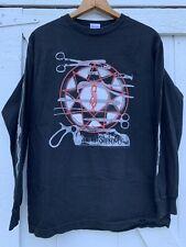 Vintage Slipknot Rare 2006 Scissor Pentagram Tour Black Flames Long Sleeve Shirt