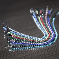 "CZ Gemstone Birthstone Multi color 3mm Silver Plated Tennis Bracelet 6"" 7"""