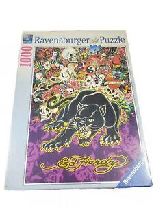Ed Hardy Black Panther 1000pc Puzzle (Ravensburger, 2009) RARE New/Sealed!