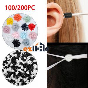 100/200x Cord Locks Toggle Adjuster Mask Stopper Elastic DIY Tightness Button