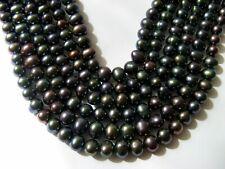 Lotto di N°6 Fili Perle Coltivate Scaramazze Barocche  7,5 mm. ,Lunghe cm.40