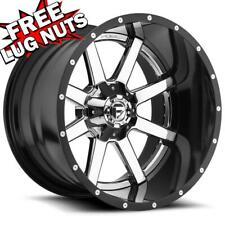 24 inch 24x16 FUEL D260 MAVERICK CHROME wheel rim 6x5.5 6x139.7 -100