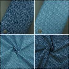 3.8oz 100% Cotton Pure Denim Fabric, Small Circle Polka Dot Print Blue Navy