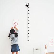 Cartoon Wall Sticker Owl For Kids Height Chart Ruler Home Decor Animal Height