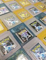 Game Boy Color Original Pokemon Crystal + Gold + Silver Games *New Batteries*