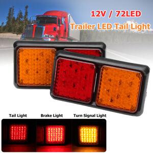 2X 72 LED TRAILER TAIL LIGHT TRUCK CARAVAN UTE BOAT LAMP INDICATOR WATERPROOF