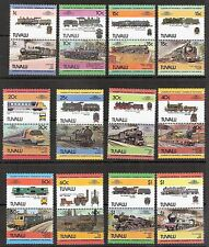 Tuvalu 1984 Trains Locomotive Se-Tenant Pairs Complete Set (12) MNH (SC# 235-246