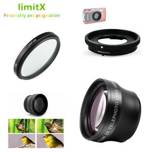 2x magnification Telephoto Lens UV filter Adapter Ring for Olympus TG-5 TG5