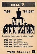 1955 WBKC CHICAGO TV AD~MR CITIZEN~HOW DANGER MAKES HEROES OF ORDINARY PEOPLE !