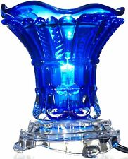 Blue Glass Electric Aroma Lamp Oil and Wax Tart Warmer with...