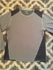 Eddie Bauer Large Gray Active Fit Longsleeve Jersey Cocona/Poly blend Colorblock