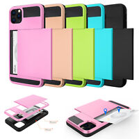 For iPhone 11/11 Pro/11 Pro Max 2019 Case Wallet Card Holder Hard Phone Cover