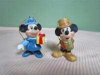 WALT DISNEY JAPAN PORCELAIN BISQUE MICKEY & MINNIE MOUSE FIGURINE ORNAMENTS