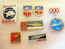 Unique Collection Of Ancient Badges Of The Mill Moscow Helicopter Plant Part 2
