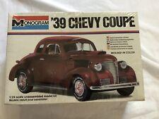 Vintage Monogram 39 Chevy Coupe 1939 Original Sealed Model Kit 2256