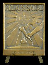Médaille cérémonie du Relais Sacré soldat combattant belge Belgique à Jean Hénon