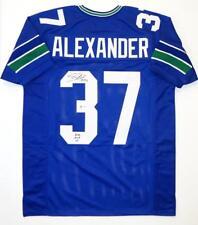 31bebb51683 Shaun Alexander Autographed Blue Pro Style Jersey w/ NFL MVP- Beckett Auth  *3