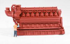 HO Scale 5000HP 16 Cylinder Natural Gas Engine Model Flatcar Load Red Oxide