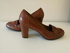 Clarks Basil Crimson Brown Leather Shoes  UK Size 6E/EUR 39.5/US 8.5