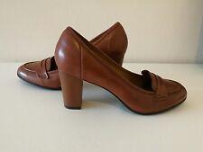 Clarks Basil Crimson Brown Leather Shoes  UK Size 6E/EUR 39.5/US 8.5