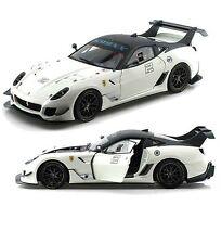 1:18 Hot Wheels ELITE  -  Racing Ferrari 599XX EVO White #2
