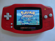 Backlit Nintendo GBA Game boy Advance Custom Backlight - red ags 101 brighte