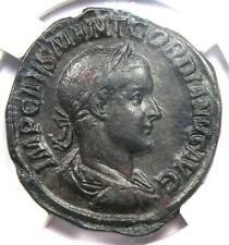 Roman Gordian III AE Sestertius Copper Coin 238-44 AD - Certified NGC Choice VF