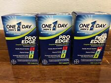 3 One A Day Men's Pro Edge Multivitamin 50 Tablets Each EXP 08/2021 CR 1002
