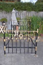 antique brass bed and cast iron bed frame