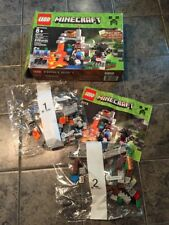 2014 Lego Minecraft 21113 Mojang The Cave 249 Pc SP W/box Instruction Book