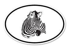 "Zebra Oval car window bumper sticker decal 5"" x 3"""