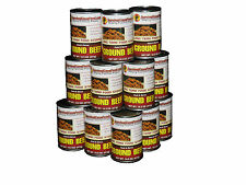 Survival Cave Food Canned Ground Beef - Food Storage 12 Cans - 14.5 oz each