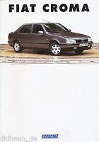 Fiat Croma Prospekt 1993 3/93 brochure Broschüre Autoprospekt broschyr catalogo