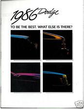 1986 Dodge Sales Brochure Catalog - Omni GLH Lancer Daytona 600 Charger Shelby
