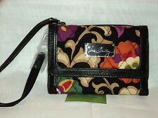 Vera Bradley Anniversary Wristlet in Suzani Cotton/Leather Free Shipping  BIN$58