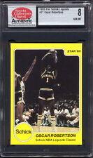 1985 STAR CO. SCHICK NBA LEGENDS CLASSIC #21 OSCAR ROBERTSON (HOFer) SCD 8 NM/MT