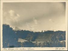 Allemagne, Vue d'une forêt et sommets des montagnes, 14 octobre 1928, vinta