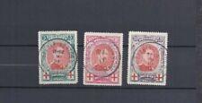 Belgique CROIX-ROUGE-Cachet ENCLAVE-BAARLE-DUC-Cote 85€-OCB132/34-RODEKRUIS-1915