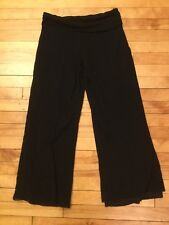 Sweet Peas Maternity Black Nylon Yoga Pants, Size M